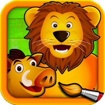 Savane-Puzzle-Couleurs-et-Dessins-pour-Enfants-Jeux-de-Coloriage-et-Peinture-avec-les-Animaux-Lite